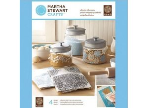 EK Succes, Martha Stewart Martha Stewart Adhesive serigrafier, Floral Doily, 22 x 28 cm, 1 stk