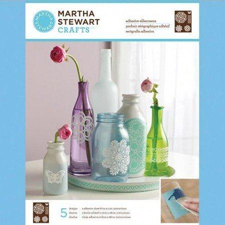 EK Succes, Martha Stewart Martha Stewart, Adhesive Silkscreens, Doily Lace, 22 x 28 cm, 1 Stk.