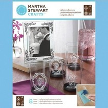 Martha Stewart, Adhesive silkscreens, Damask accenter, 22 x 28 cm, 1 stk
