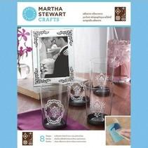 Martha Stewart, Adhesivo serigrafías, damasco Acentos, 22 x 28 cm, 1 PC