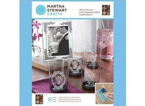 EK Succes, Martha Stewart Martha Stewart, Adhesive silkscreens, Damask accenter, 22 x 28 cm, 1 stk