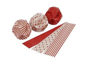 Komplett Sets / Kits Bastelset: Materialset für 9 Stck Papierkugeln.