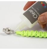 Craft Kit: sæt af materialer til 1. flettet armbånd lavet af tykt, neonfarvet macramé snor