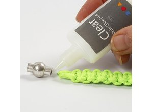 Craft Kit: set of materials for 1 Braided Bracelet made of thick, neon-colored macramé cord