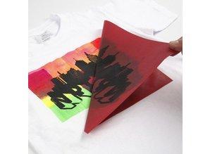 Schablonen, für verschiedene Techniken / Templates Serigrafi stencil, ark 20x22 cm, 1 ark