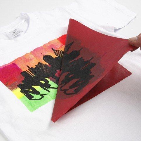 schablone mit klebender unterseite f r druckmuster auf textilien papier leinwand holz u v m. Black Bedroom Furniture Sets. Home Design Ideas