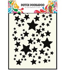 Dutch DooBaDoo Pronty, Dutch Mask Art,A5, Sterne