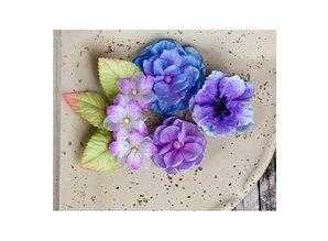 Prima Marketing und Petaloo Prima Marketing, blomster med blade, 9 stykker, lilla