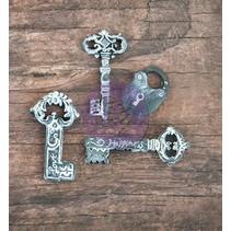 3 Resin Schlüssel und 1 Schloss