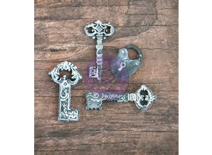 Prima Marketing und Petaloo 3 Resin key and one lock