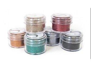 BASTELZUBEHÖR / CRAFT ACCESSORIES Colori Glitter polvere scura