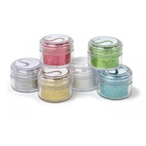 Glitter pulver farver