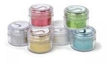 BASTELZUBEHÖR / CRAFT ACCESSORIES Glitter pulver farver