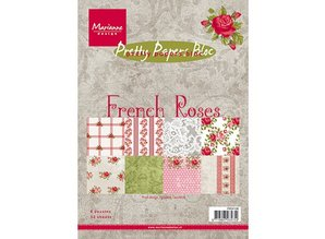 DESIGNER BLÖCKE  / DESIGNER PAPER Pretty Papers, A5, French Roses, 32 sheets, 4 x 8 motifs