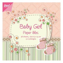 Bloque de papel, 15x15cm, Baby Girl