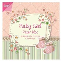 Papier block, 15x15cm, Baby Girl