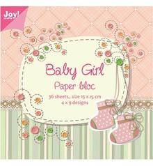Joy!Crafts und JM Creation Blocco di carta, 15x15cm, Baby Girl