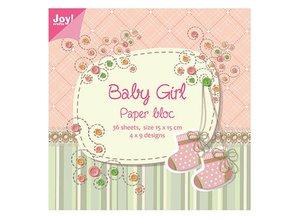 Joy!Crafts und JM Creation Papier block, 15x15cm, Baby Girl