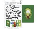 X-Cut / Docrafts Skæring og prægning stencil til en skygge box card, rensdyr