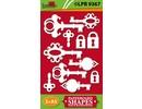 Embellishments / Verzierungen Chipboard, keys and locks