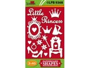 Embellishments / Verzierungen Chip boards, Litle Princess