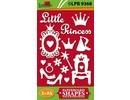 Embellishments / Verzierungen Tableros de viruta, Litle Princess