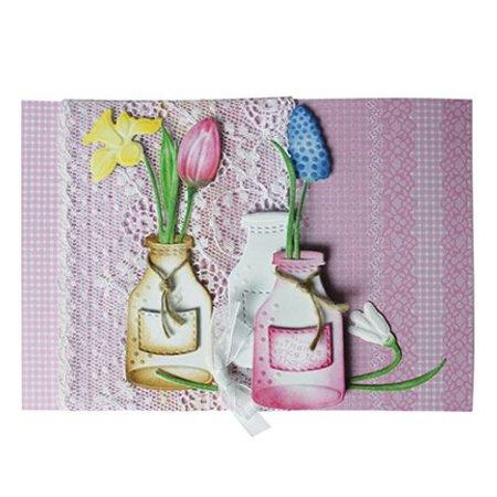 Joy!Crafts und JM Creation Joy Crafts, blomster 3stk / 44x79 / 40x69 / 49x93mm