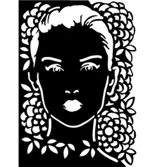 Dutch DooBaDoo Mask Stencil Face, design, 297 x 210mm