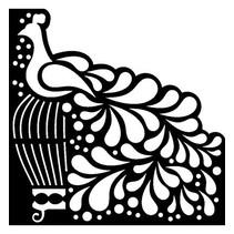 Mask Stencil Bird, design, 15 x 15cm