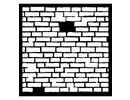 Dutch DooBaDoo Mask Stencil Brick, design, 300 x 300mm