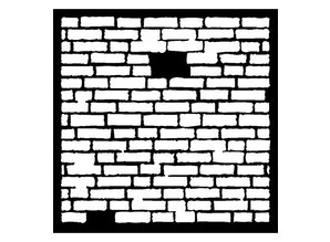 Dutch DooBaDoo Mask Stencil Brick, Designs, 300 x 300mm