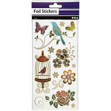 Sticker Abbastanza adesivo foglio, foglio di 10,4x29 cm, sorta con effetto dorato, Primavera, 4. Foglio
