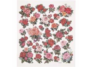 Sticker Foil sticker sheet 15x16, 5 cm, roses, 1 sheet