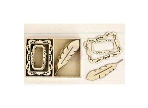 Objekten zum Dekorieren / objects for decorating Wood Icons - Delight - wood ornaments