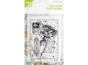 Joy!Crafts und JM Creation Sellos transparentes, rosa viejo en una postal