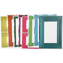 Frame, sheet 26,2 x18, 5 cm, bold colors, 16 sort. Sheet