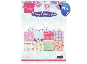 DESIGNER BLÖCKE  / DESIGNER PAPER Smukke Papers, A5, sød sommer, 4x 8 motiver