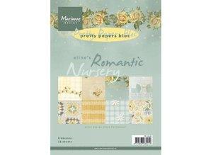 DESIGNER BLÖCKE  / DESIGNER PAPER Smukke Papers, A5, Romantisk Nursery, 4x 8 motiver
