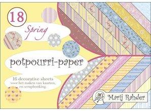 DESIGNER BLÖCKE  / DESIGNER PAPER Bloque Designer, A5-popurrí papel