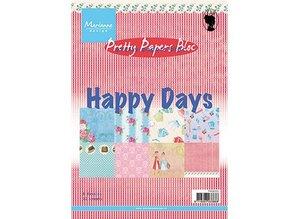 DESIGNER BLÖCKE  / DESIGNER PAPER Papeles bonitas, A5, Happy Days, 4x 8 motivos