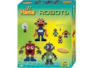 Kinder Bastelsets / Kids Craft Kits Hama Midi Beads - gift box, robot, 1 box