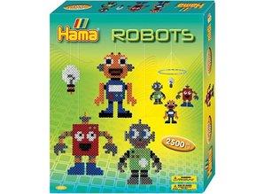 Kinder Bastelsets / Kids Craft Kits Hama Midi Perler - gaveæske, robot, 1 kasse