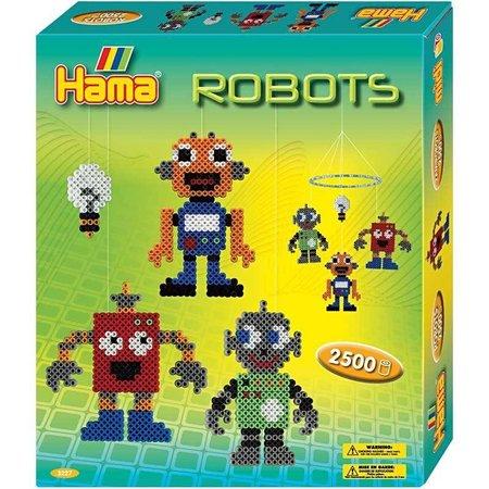 Kinder Bastelsets / Kids Craft Kits Hama Midi Bügelperlen - Geschenkbox, Roboter, 1 Schachtel