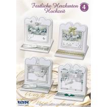 Materiale sæt til 4 ædle bryllup kort