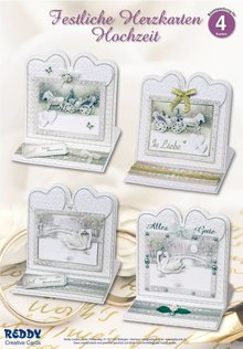 BASTELSETS / CRAFT KITS: Material set for 4 noble wedding card