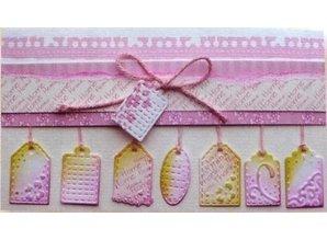 Joy!Crafts und JM Creation Joy Crafts, cutting and embossing stencil Mini Labels, 2 x 20x82 mm