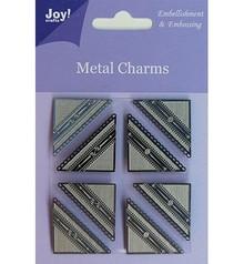 Embellishments / Verzierungen Gioia Artigianato, charms in metallo angolo, 8 pezzi