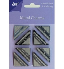 Embellishments / Verzierungen Joy Crafts, Metal Charms hjørne, 8 stykker