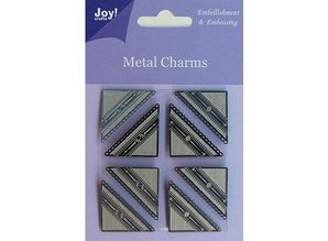 Embellishments / Verzierungen Joy Crafts, Metal Charms corner, 8 pieces