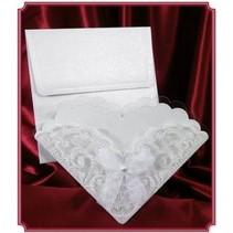 Edele kortet som invitation-kort eller borddekoration til brylluppet! 3 piece